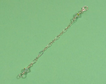 Crystal Necklace Extender - Sterling Silver - Choose Your Length