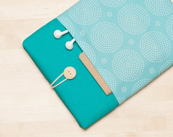 iPad Air sleeve / iPad Air 2 case / iPad Pro case / iPad 2 case / ipad 3 case  - Turquoise -