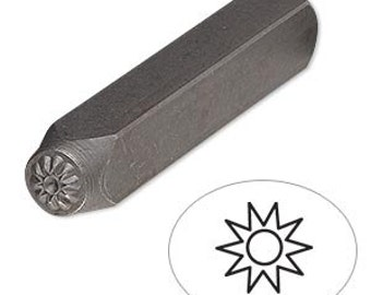 Steel Stamp Punch for Beading & Jewelry Making (Sun)