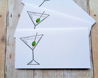 Martini Place Cards Cocktail Party Girls Night Weddings Cocktails Drink Cards