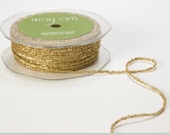 8 Yards METALLIC GOLD String  Ribbon Trim  cheswickcompany