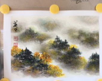 Original Chinese Painting-Natural Scenery(Cloudy Scenery)