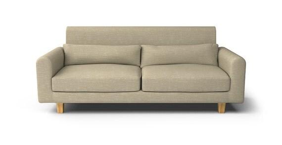 Ikea Nikkala 3 Seater Sofa With Hard Hook Velcro Slipcover