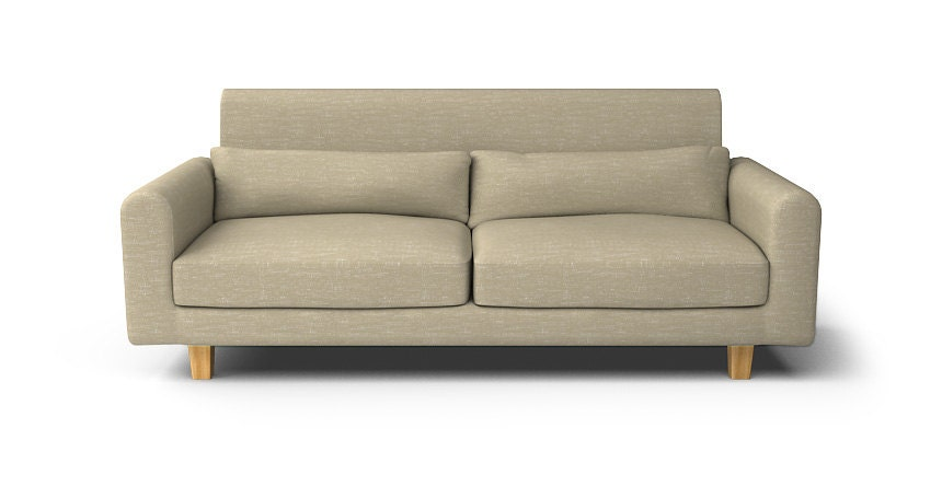 Ikea nikkala 3 seater sofa with hard hook velcro slipcover for Ikea sofa slipcovers discontinued