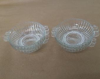 Vintage Set of 4 Glass Bowls