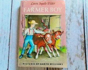 Vintage Farmer Boy Book / Laura Ingalls Wilder / 1950's