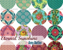 Fat quarter bundle of Eternal sunshine by Amy Butler for Free Spirit fabrics- 16 fat quarters