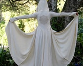 Size XS/S Hemp Fleece Winterfell Hooded Goddess Robe