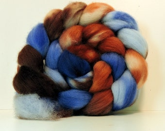 Handpainted BFL Top Spinning Fiber 4 oz