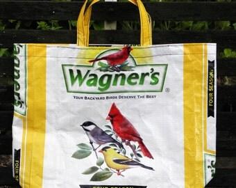 NEW LOW PRICE, Repurposed Wagner's Bird Seed Tote Bag