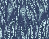Anna Maria Horner Field Study Fine Feathered denim blue Free Spirit fabric FQ or more