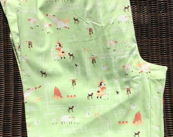 Heather Ross Munki Munki One PJ Leg Panel Poplin Kerry's Farm