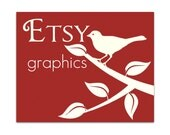 Premade Etsy Shop Graphics - 3 Piece Set {Cover, Banner & Icon} - Birds on Brick Red