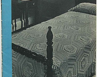 Vintage 1947 Crochet and Knit Bedspreads Book 232, Clarks J& P Coats, The Spool Company