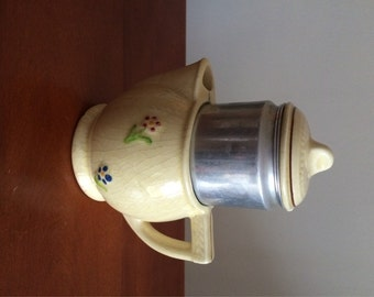 RESERVED for JB Shabby Chic Percolator Drip-O-lator Superior Quality Kitchen Ware Made in Ohio Cute for Display