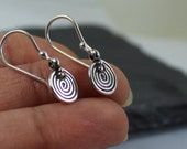 SALE//Sterling Silver Swirl Earrings, Artisan Sterling Silver Jewelry, Boho Dangle Earrings, Sterling Silver Jewelry, Everyday Gift For Her