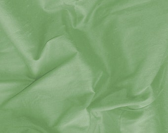 dupioni silk - seafoam green 100% pure silk - 1 yard sld194