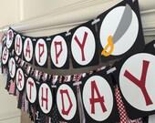 Pirate Happy Bithday Banner, Pirate Bithday Banner, Happy Birthday Banner, Pirate Party Banner, Pirate Party, Pirate Birthday Decor,
