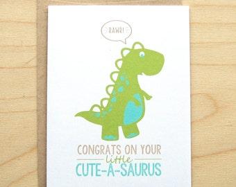 Dino Baby Card