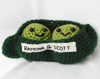 Two Peas in a Pod Crochet Personalised Amigurumi Customisable