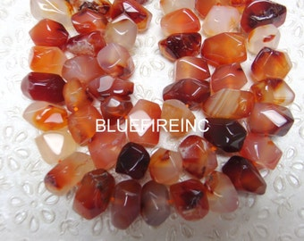 15 inches of Natural Canelion faceted nugget beads in 13x20mm