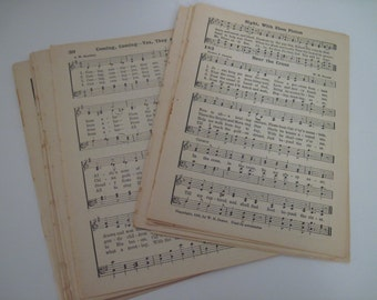 1941 Vintage Hymnal Music Paper - Bundle of 20 Pages