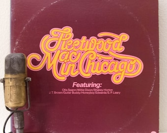 """Peter Green's Fleetwood Mac Vinyl Record Album 1960s Blues Rock 2LP, """"In Chicago""""(1975 Sire Records Re-issue)"""