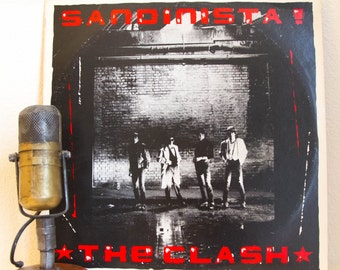 "ON SALE The Clash Vinyl Record Album Lp 1980s Punk Rock Post-Punk Reggae Ska Political ""Sandanista"" (1980 Cbs w/fold-out PAPER /""Police On M"