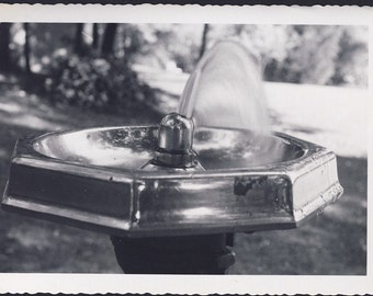 Shiny Chrome DRINKING WATER FOUNTAIN In The Park Artistic Photo circa 1950s