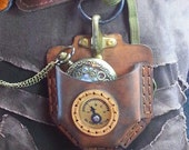 Steampunk Pocket watch / Fob watch leather pouch  Kit Complete with everything you need!