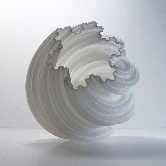 3d fractal spiral pottery vase modern art sculpture by. Black Bedroom Furniture Sets. Home Design Ideas