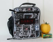 Star Wars Lunch Bag With Monogram Upcycled Pottery Barn Classic  -- Allover Star Wars