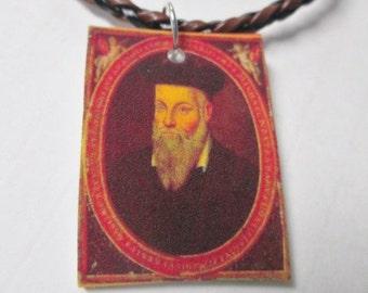 NOSTRADAMUS Philospher Philosophy Necklace Plastic New