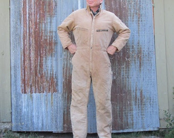 Vintage Key Imperial Duck Cloth Insulated Overalls - Coveralls - Men's Large
