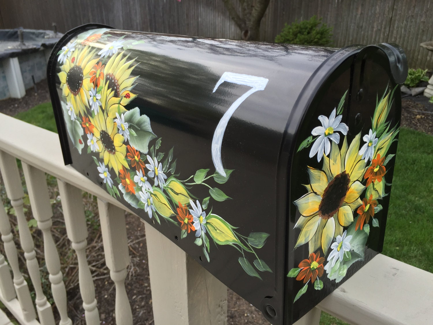 Mailboxes Hand Painted Mailboxes Sunflowers By
