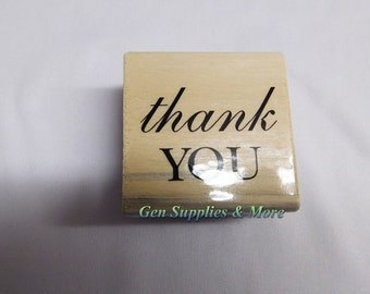 Thank You  Mounted Rubber Stamps, Thank You Stamps - New