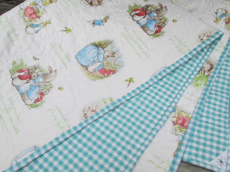 Baby Quilt Peter Rabbit Wholecloth Crib Quilt Nursery