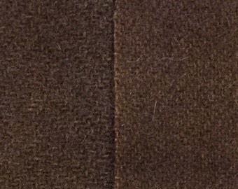 Stencil Brown  - hand dyed rug hooking wool fabric -  (1) Fat Quarter (2)  values available
