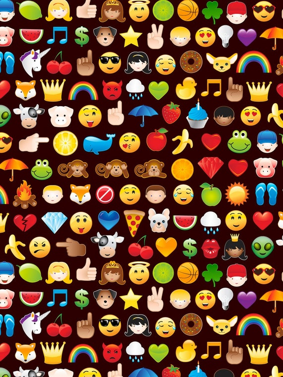 Timeless treasures emoticon black emoji fabric 1 yard for Emoji fabric