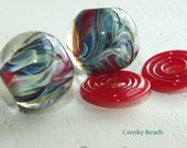 Handmade Lampwork beads and discs - Creeky Beads SRA