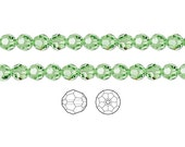 Swarovski Crystal Beads Peridot 5000 Faceted Round 6mm Package of 12