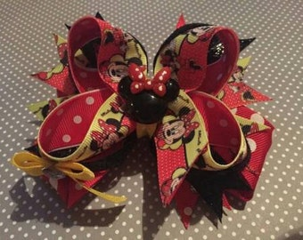 Red Minnie Mouse hair bow