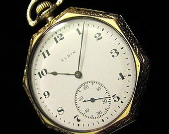 Elgin c.1917 Art Deco Pocket Watch