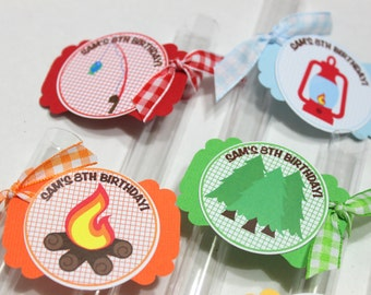 Camping Party Favors, Outdoors party favor, camp party favor, Ready to fill with your own candy - Sports, Custom, DIY, boys scouts favor