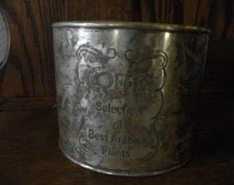 Silver Patina Coffee Can