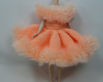 Handcrafted crochet knitting dress outfit clothes for Blythe doll # 200-32