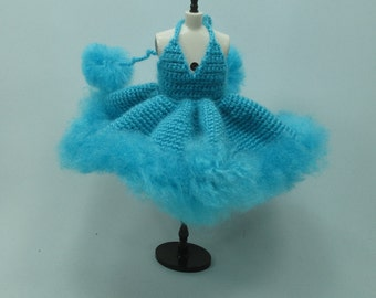 Handcrafted crochet knitting dress outfit clothes for Blythe doll # 200-51