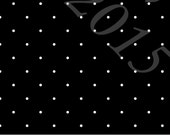 Black and White Pin Dot 4 Way Stretch ORGANIC Jersey Knit Fabric, Club Fabrics