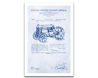Farm Tractor Patent Art Giclee on archival matte paper