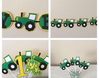 Green Tractor Package Tractor farm Boy Girl Farm